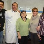 Parte do grupo envolvido na pesquisa: Da esquerda para a direita: Drs.Hermanno Sacco, Giorgini Venturieri, Barbara Ruffoni, Beatrice Nesi e Sar. Lazzeresschi no Laboratorio do CRA em Sanremo.